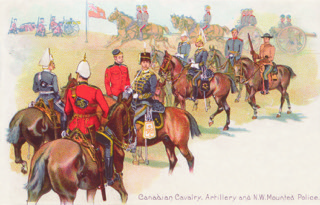 "Figure 3. A South African War (1899–1902) patriotic postcards by the Toronto Lithographing Co. This company is known to collectors as ""Toronto Litho."""