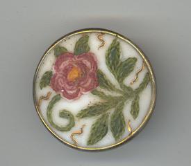 French Glass Imitation Fabric, Crewel