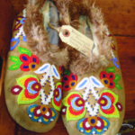 Skillfully crafted moccasins, beautifully beaded. From northern Ontario, possibly Cree. Priced at $375 Offered by a Tick in Tyme Antiques , Bloomfield, Ontario. Call 613-393-5886 or email boogleberry@sympatico.ca