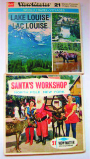 View Master reels of Lake Louise, Alberta and the Santa's Workship, North Pole, New York