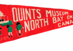 1930s pennant of the Dionne Quints playing in their front yard