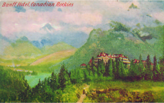 Figure 2. Renowned Canadian artist F. M. Bell-Smith painted the image of the Banff Springs Hotel reproduced on this W. G. MacFarlane (Toronto) postcard.