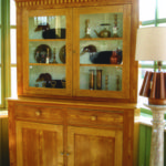 Zeger's Design c1865 butternut 2-piece flat back cupboard, Eastern Onatrio origins. $2150 (Please contact show promoter Holly Newland for contact info. 613-393-58860