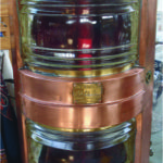 David's Antiques, Picton, ON A fine brass and copper ship's light in working condition, c1920. $695 Call David Purcell at 613-847-3159