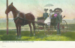 """Figure 4. """"General Otter, The Popular Commander-in-Chief"""" is shown on this circa 1908 postcard by Toronto's Warwick Bros."""