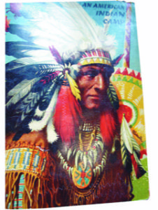 """Vendor Bob Sonier offered this c1962 pop-up book entitled """" An American Indian Camp"""" Priced at only $45, this was a beautifully detailed item in great condition - a real find! 613-925-0086"""