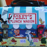 Very nice vintage c1959 Porky's Lunch Wagon lunch box offered by Kal's Collectibles for $250 Call 613-399-5178