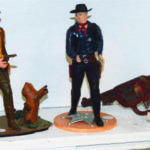 I Remember Antiques and Collectibles Lindsay ON, offered this pair of early kits, put together to make up of two western cowboys (gun fighters). These were the precursor to the plastic model planes, and boat kits, so popular in the 1950 and 1960's and are still popular with model makers. $ 69. each One sold. Toy gun $28