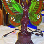 Eva's Treasures Port Perry ON offered and sold this collectible butterfly lamp. The asking price was $160