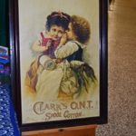 Ron Armstrong Lindsay On, had this charming advertisement litho for Clark's spool cotton. It sold within the first half hour of the show to another dealer.