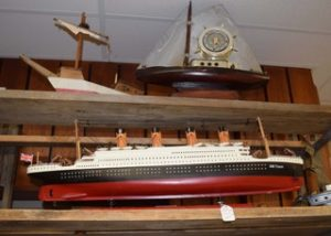 Colin Campbell of Riverside Antiques Lindsay ON offered this wooden model of the Titanic. It was priced at $225