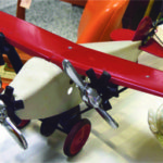 This Keystone USA Toy airplane was found in the booth of Caviar & Cobwebs Garage Sale, Port Perry ON. It had been repainted, but even so, it was still a striking antique toy. It was priced at $300.