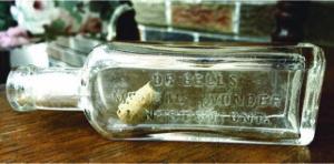 """Bottle embossed """"Dr. Bell's Medical Wonder, Kingston, Ont."""" Photo courtesy of Nostalgic Journey"""