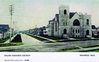 Figure 5.Ralph Connor's Church in Winnipeg is shown on this c. 1909 Warwick Bros. & Rutter card.