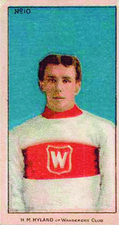 Montreal Wanderers player H. M. Hyland 1917-18 hockey card.