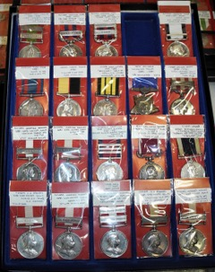 Collection of Victorian Canadian and British Campaign Medals, Rudy's Coins and Militaria Tel: 905 388 9066