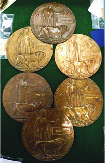 British Empire Next of Kin WW1 Memorial Plaques. Also known as The Dead Man's Penny - Dale Wiskin