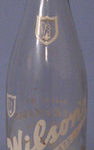 A Wilson beverage bottle from Toronto. The company had been in business since 1875